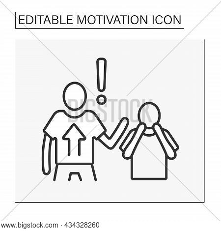 Power Motivation Line Icon. Person Motivated By Controlling Their Own Lives. Affect Direction.motiva
