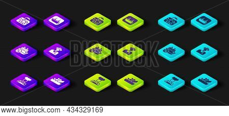 Set Cook, Sinking Cruise Ship, Cruise, Tourist, Lifeboat And Suitcase Icon. Vector