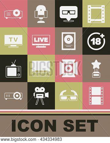 Set Play Video, Movie Trophy, Plus 18 Movie, 3d Cinema Glasses, Live Stream, Smart Tv, Movie, Film,