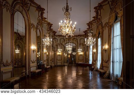 Buenos Aires, Argentina, January 30, 2021: Magnificent View From Interiors Of The Museum Of Decorati