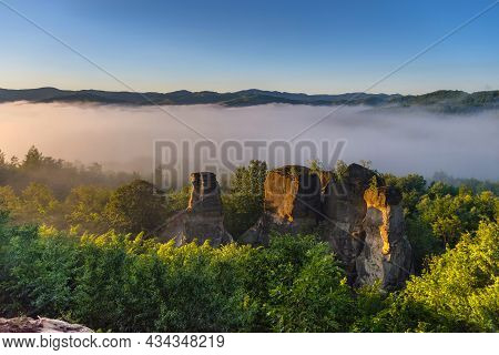The Rock Towers Of The Dragons Garden (gradina Zmeilor ), A Protected Geological Nature Reserve In S