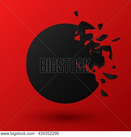 Round Explosion Banners, Abstract Black Explosion, Vector Illustration