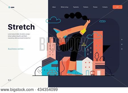 Runners - A Woman Running And Exercising Outside, Website Template