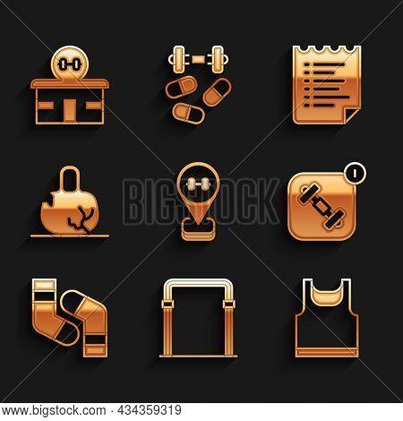 Set Location Gym, Sport Horizontal Bar, Sleeveless T-shirt, Fitness App, Socks, Broken Weight, Train