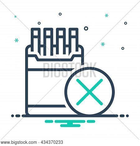 Mix Icon For Restriction Inhibition Ban Prohibit Moratorium Taboo Smoking No-smoking Cigarette Forbi