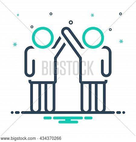 Mix Icon For Coalition Union Alliance Organization Combination Team Colleagues  Friendship People