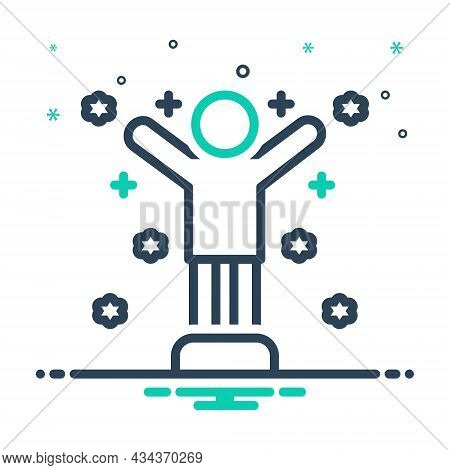 Mix Icon For Confident Convinced Positive Reliance Motivation Dignity Self-confident Confidence Assu