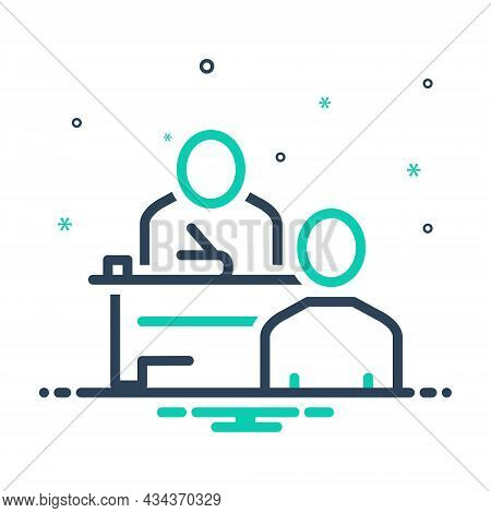 Mix Icon For Examination Test Exam Inquiry Questioning Study Trial Student Pupil Teacher