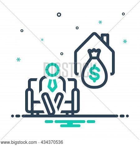 Mix Icon For Retire Armchair Deposit Elderly Money Give-up-work Retirement Old-age Wealth Pension Ri