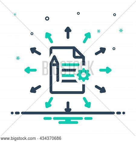 Mix Icon For Assign Allow Appoint Script Document Summary Notebook Notepad Page