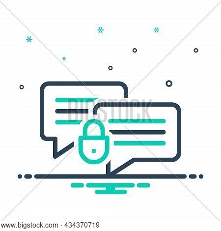 Mix Icon For Private Secure Email Message Spam Protect Lock Password Communication Testimonial Bubbl