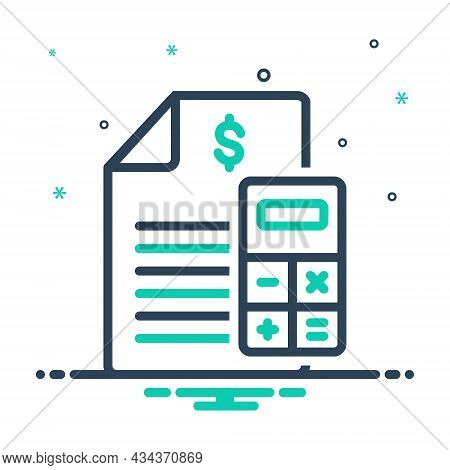 Mix Icon For Budget Financial-plan Accounts Statement Calculate Allocate Accounting Banking Calculat