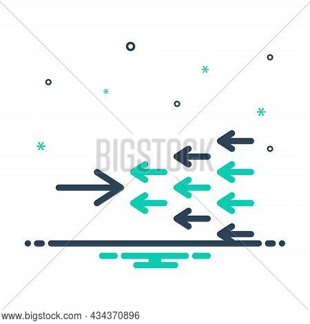 Mix Icon For Exception Omission Exclusion Against Arrow Opposite Contrary Against Adverse