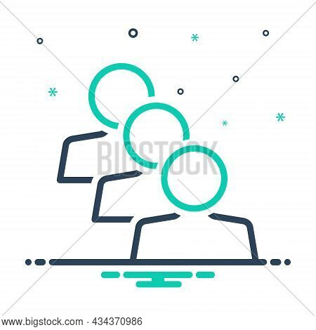 Mix Icon For Similar Identical Equal Parallel Equivalent People Adult Same