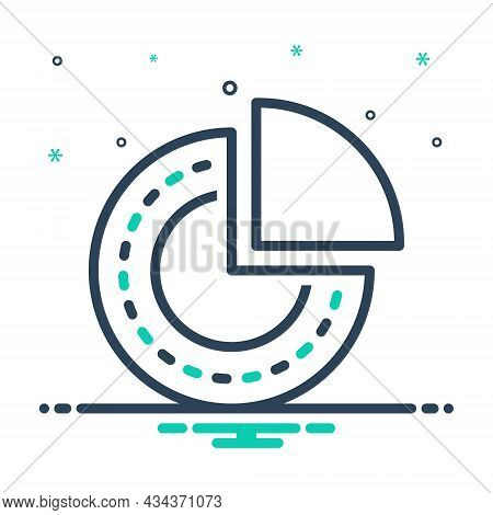 Mix Icon For Portion Part Piece Division Quarter Chart Pie-chart Circular Particular Basis