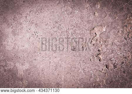 Vintage Or Grungy Brown, Pink Background Of Natural Cement Or Stone Old Texture As A Retro Pattern W