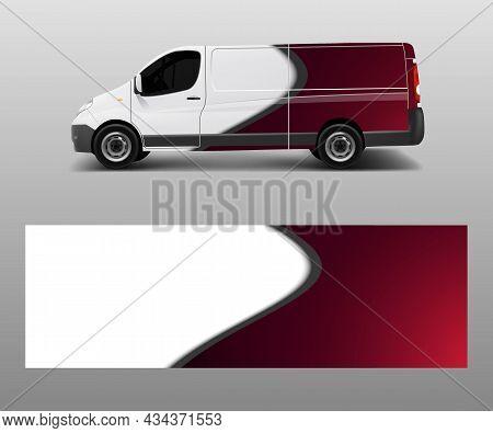 Car Decal Van Designs . Wrap Designs Template Vector.