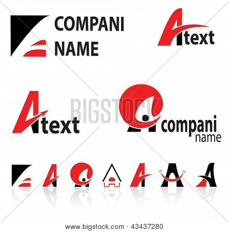 stylized letter A