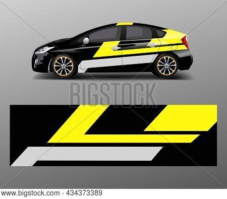Sport Car Racing Wrap Design. Vector Design Template Design Vector