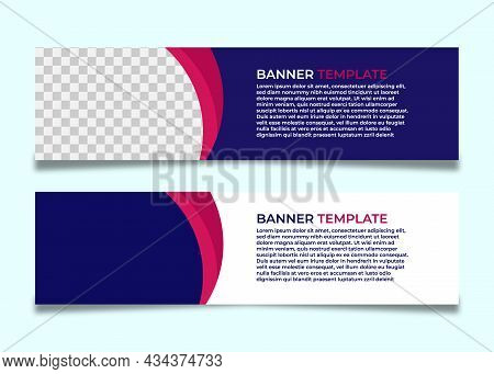 Banner. Set Of Banner , Ad Banner Design , Website Banner Design , Banner Design With Space For Photo Or Image , Clean And Modern Ads Banner Design, Web Banner Tempate , Popular Banner Vector Ads Banner Vector. Ads Banner. Web Banner Image