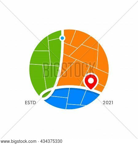 Simple And Modern Illustration Logo Design Initial L City Map.