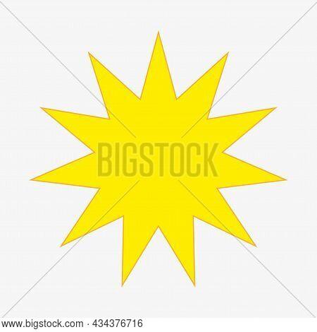 Yellow Starburst Sticker Icon. Bang Chat Sign. Price Tag. Sale Emblem. Cartoon Banner. Vector Illust