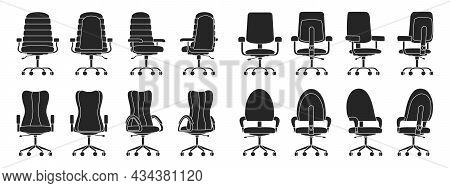 Office Chair Isolated Black Icon.vector Illustration Interior Furniture On White Background . Vector