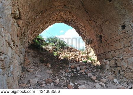 Montfort Castle. Qal'at Al-qurain Or Qal'at Al-qarn -
