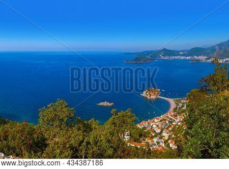 Island Sveti Stefan - Montenegro - nature background