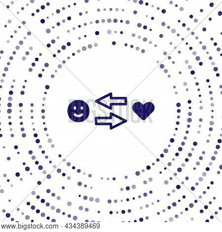 Blue Romantic Relationship Icon Isolated On White Background. Romantic Relationship Or Pleasant Meet