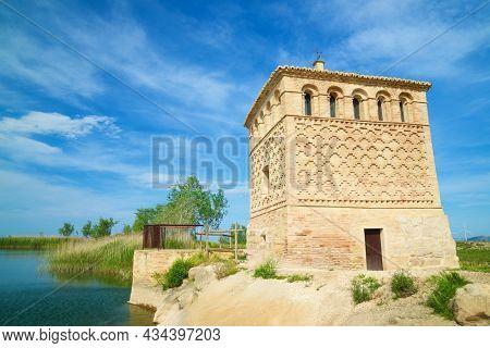 Mudejar building, named as Casa de la Estanca, used for agricultural works, in Borja, Zaragoza Province, Aragon in Spain.