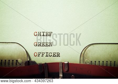 Chief Green Officer text written with a typewriter.