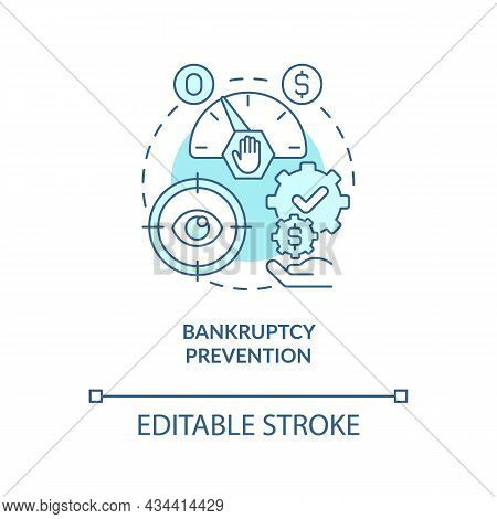 Crisis Prevention Concept Icon. Business Recession. Government Bailouts. Financial Support Abstract