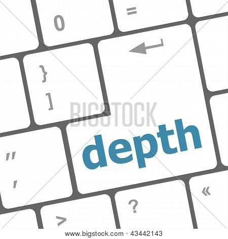 Keys With White Color Keyboard, Depth Text On It, art illustration