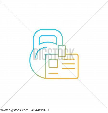 Gym Membership Gradient Linear Vector Icon. Providing Health Initiatives. Employee Discount. Fitness