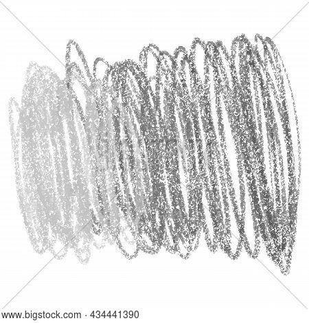 Crayon Scribble Background. Vector Monochrome Pencil Texture