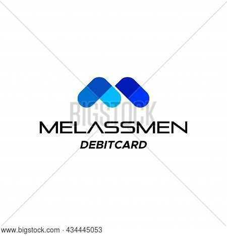 Sophisticated And Modern Logo About The Letter M And Fintech. Eps 10, Vector.