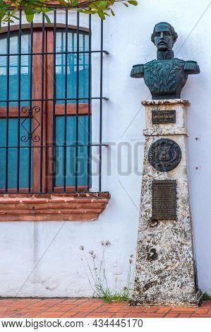 Santo Domingo, Dominican Republic - March 13, 2020: Statue Of General Juan Pablo Duarte,1813-1876, L