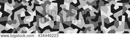 Military Deforming Camo. Seamless Repeating Vector Pattern For Camouflage Nets And Coloring Weapons