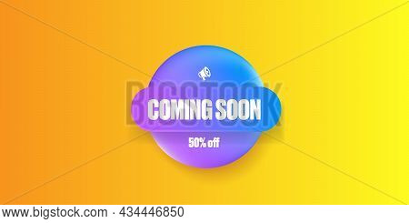 Coming Soon Banner Or Button On The Orange Modern Background. Coming Soon Sign Isolated On Yellow La