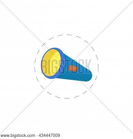 Flashlight Vector Clipart. Flashlight Isolated Flat Icon.
