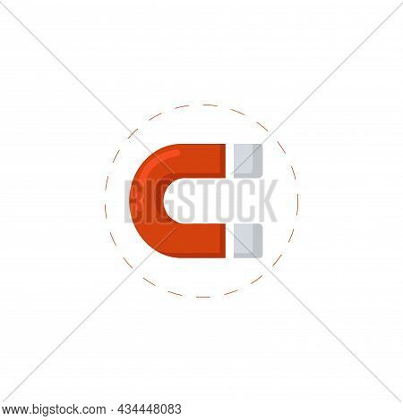 Magnet Vector Clipart. Magnet Isolated Flat Icon.