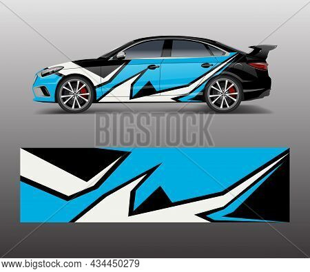 Abstract Stripe For Racing Car Wrap, Sticker, And Decal Design Vector.
