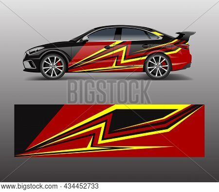 Modern Stripe For Racing Car Wrap, Sticker, And Decal Design Vector.