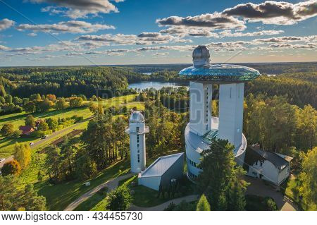 Ethno-cosmological Museum And Modern Observatory In Moletai, Lithuania, Europe, September 26, 2021