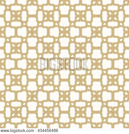 Seamless Floral Mesh Pattern. Arabic Vector Illustration With Geometric Shapes. The Background Is Us
