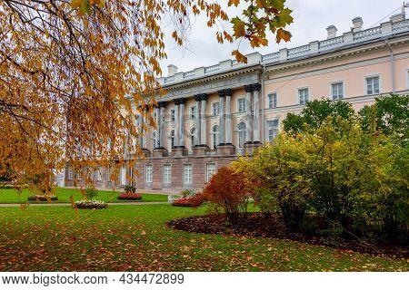 Catherine Palace In Autumn Foliage, Tsarskoe Selo (pushkin), Saint Petersburg, Russia