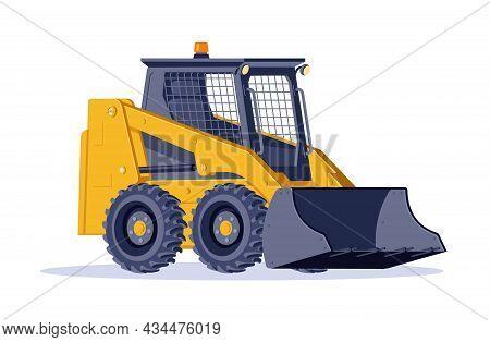 Bulldozer. Construction Machinery. Vector Isometric Illustration In White Background