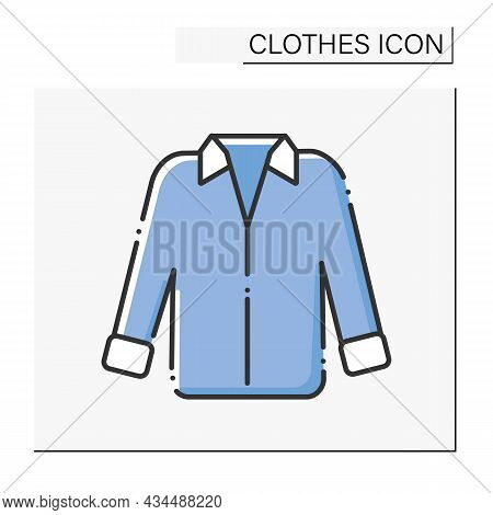 Fashion Color Icon. Oversized Shirt For Work Or Date. Trendy Clothing. Shopping.clothes Concept. Iso