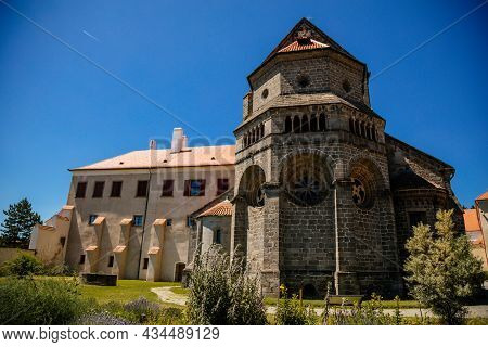 Trebic, Bohemia, Czech Republic, 06 July 2021: Medieval Castle With Museum In Historic Center, St. P